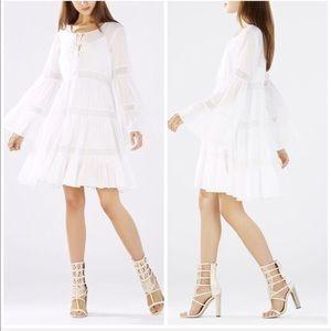 BCBG SUSIE LACE WHITE BOHEMIAN DRESS SIZE XS